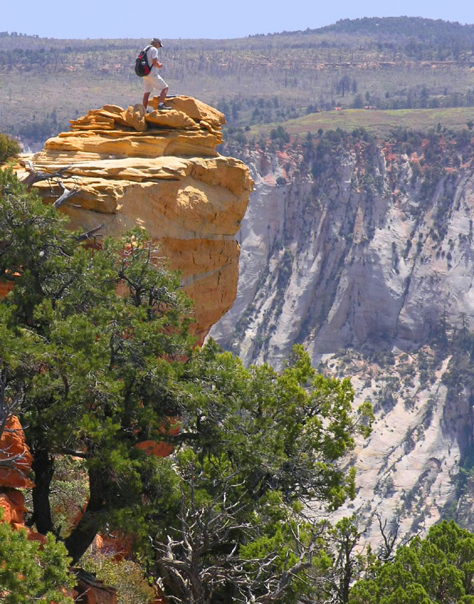 Hiking the Lady Mountain Trail in Zion National Park, Utah