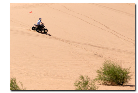 ATV on the Coral Pink Sand Dunes