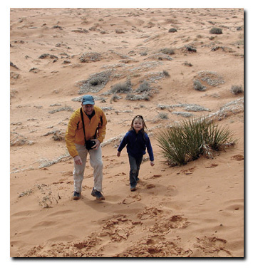 Coral Pink Sand Dunes: Bo Beck and Kyra Milligan
