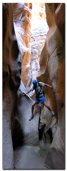 Grand Staircase slot canyon is part of the geology