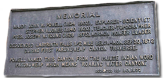 Powell Plaque in Parunuweap Canyon