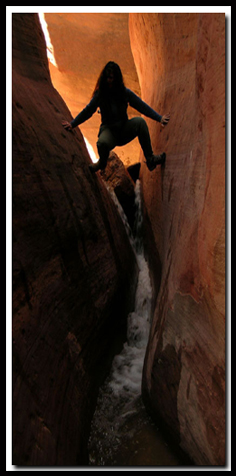 Utah's Red Hollow Slot Canyon