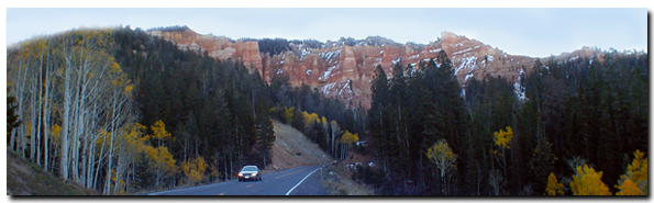 Utah State Road 14 connects with SR-148 to Cedar Breaks