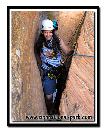 Tanya Milligan in one of  Zion's Canyons