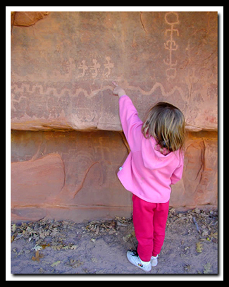 Zion Petroglyphs: Petroglyph Canyon