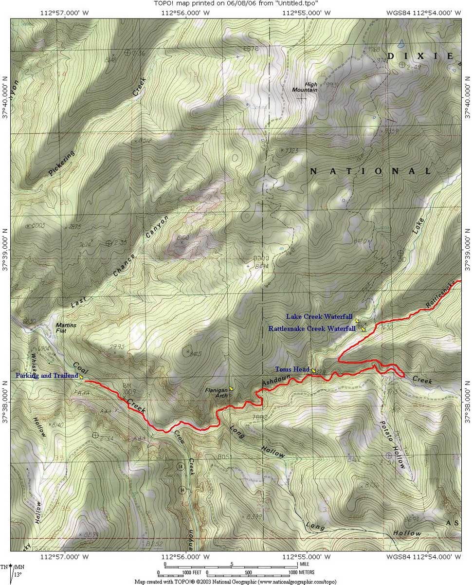 Ashdown Creek Map