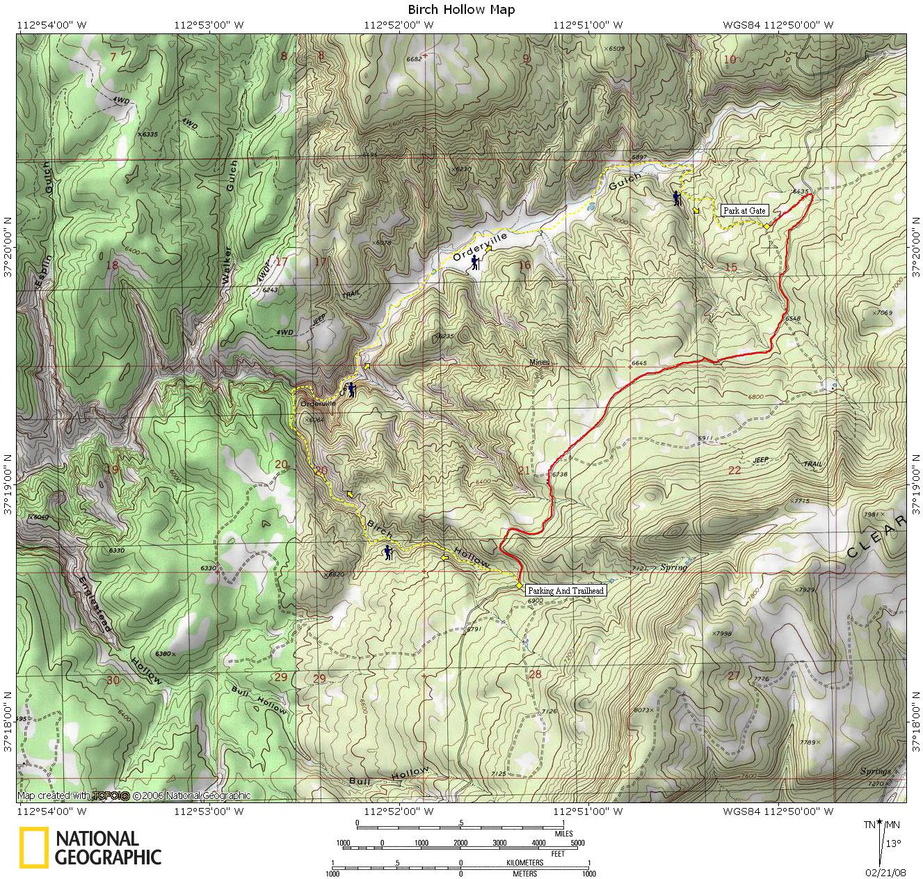 Birch Hollow Map