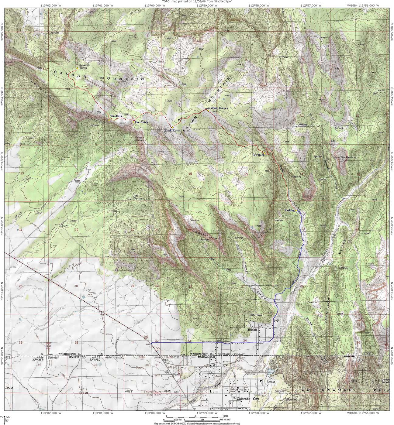 Canaan Mountain Map