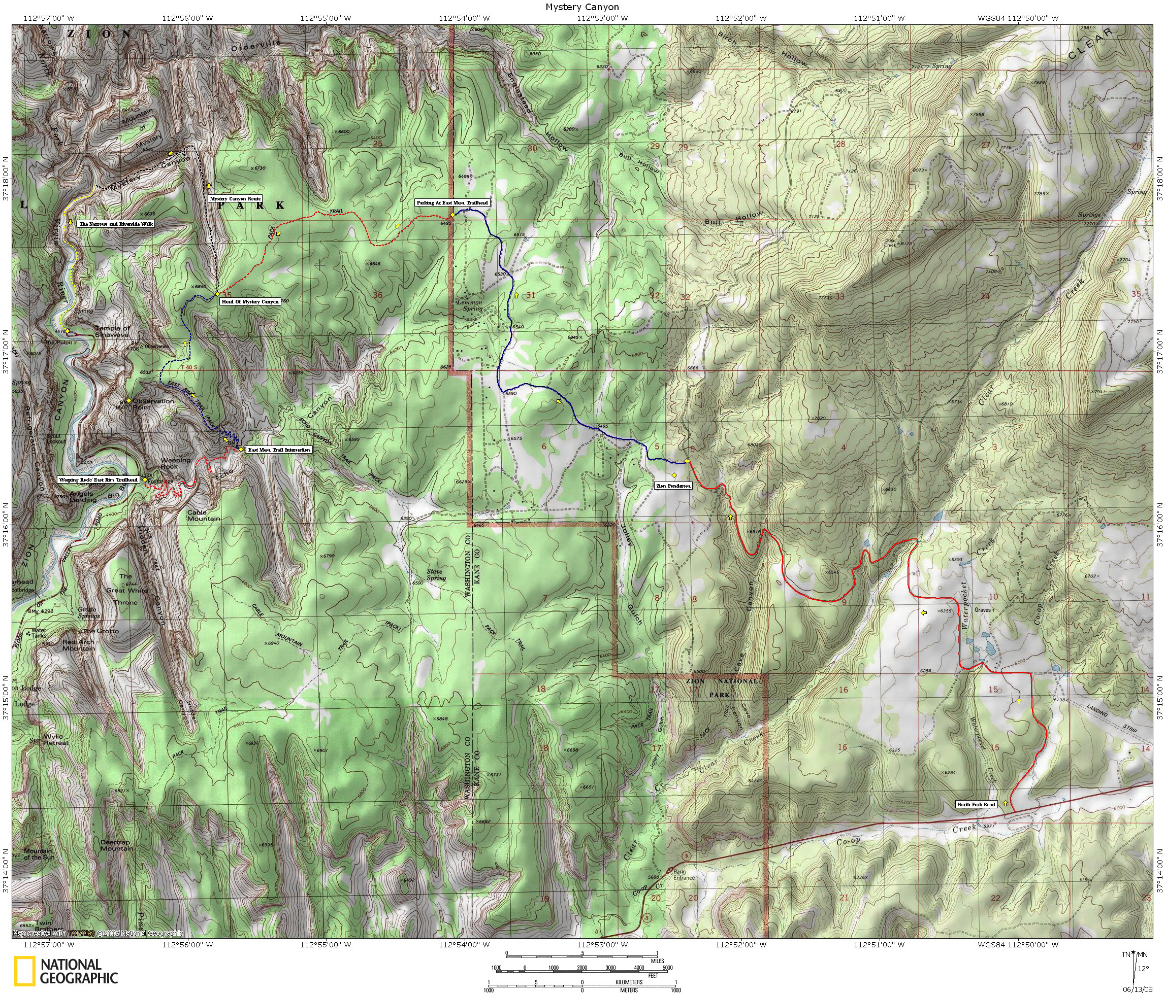 After Finishing This Route I Was Still Very Enthusiastic So I Ran Up The Pine Creek Drainage Just East Of The Tunnel Scrambled Up The South Ridge Of