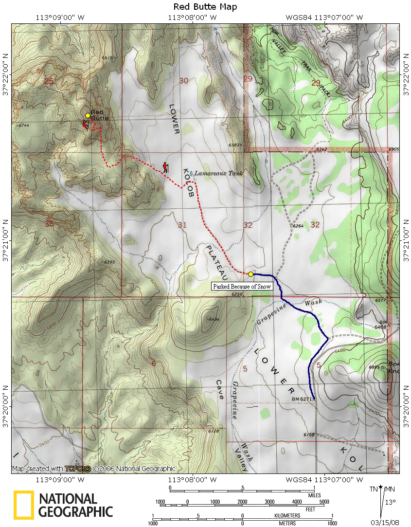 Red Butte Map