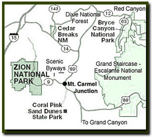 Map Zion National Park